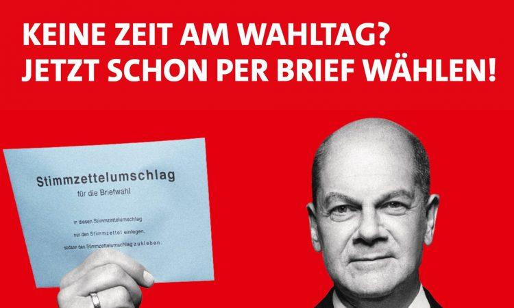 Du möchtest bei der Bundestagswahl 2021 Deine Stimme per Briefwahl abgeben? Kein Problem: Wir erklären Dir hier den Ablauf. Beantrage jetzt schon die Briefwahl!  Bei der Bundestagswahl 2021 geht es um alles – schließlich setzen wir den Kurs für die Zukunft. Die SPD will..